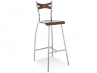 FIAMMA hocker wood chrome